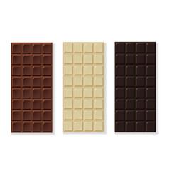 chocolate milk dark white handmade bio vector image