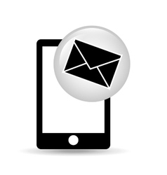 smartphone screen email social media vector image vector image