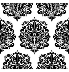 Beautiful seamless damask pattern vector image