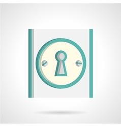 Door lock flat icon vector