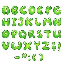 eco bubble alphabet vector image