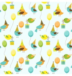 party birds pattern vector image vector image