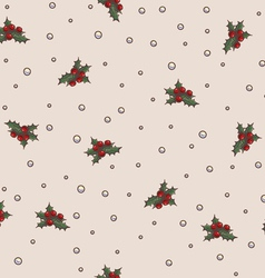 Seamless pattern Christmas and New Year theme vector image vector image