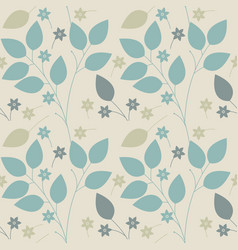spring seamless pattern with flowers and leaves vector image vector image