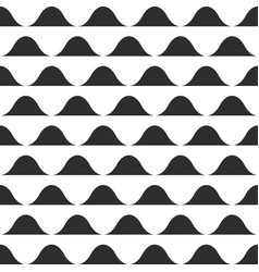wave pattern print black and white waves vector image vector image