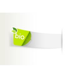bio label vector image vector image