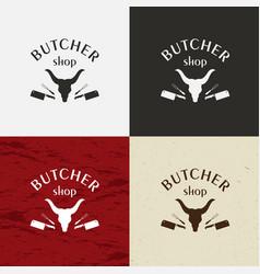 butcher shop icon butcher shop logo vector image vector image