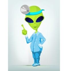 Cartoon Surgeon Alien vector image vector image
