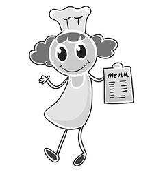 Female chef in uniform vector image