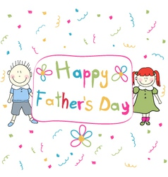Happy Father s Day vector image