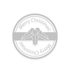 Holly berries Christmas stamp vector image vector image
