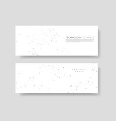 minimalistic horizontal polygonal background vector image