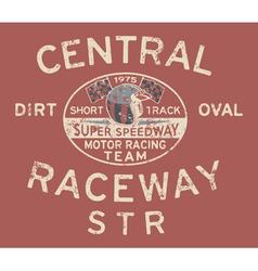 Speedway racing team vector image vector image
