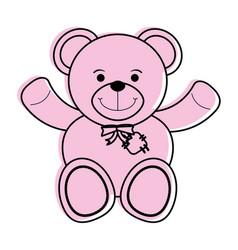 teddy bear toy icon image vector image vector image