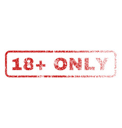 18 plus only rubber stamp vector