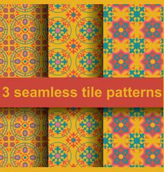 3 tile patterns vector image