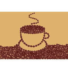 Abstract cup of coffee vector image