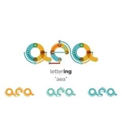 Alphabet letter font logo business icon vector image