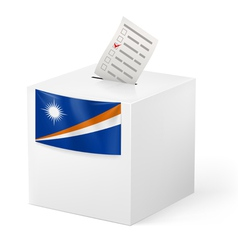 Ballot box with voting paper Marshall Islands vector