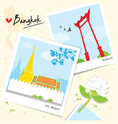 Bangkok thailand place landmark travel temple wat vector