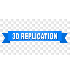 Blue stripe with 3d replication caption vector