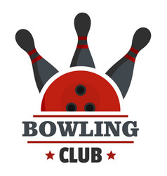 Bowling score logo flat style vector