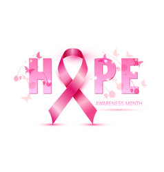 breast cancer awareness concept pink vector image
