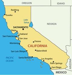 California - map vector