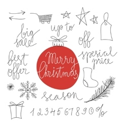 Christmas sale design elements vector image