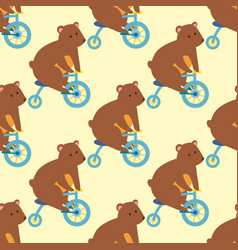 circus funny performance bear animal vector image