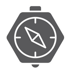 compass glyph icon geography and direction vector image
