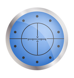 crosshair target icon realistic style vector image