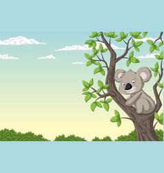 Cut koala on a tree vector