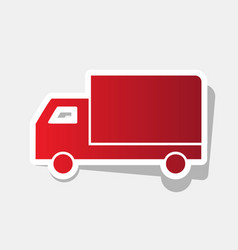 delivery sign new year vector image