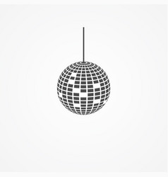 disco ball icon sign symbol vector image