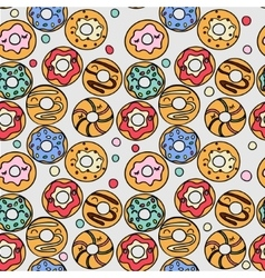 Donuts pattern vector