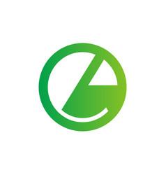 E lowercase letter circle logo design vector