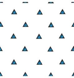 Earth warning flat seamless pattern vector