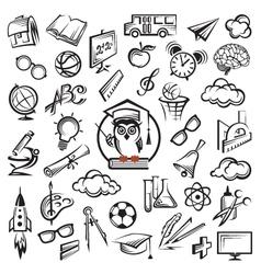 Education icon set vector