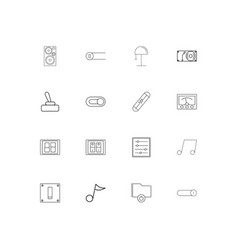 Electrical linear thin icons set outlined simple vector