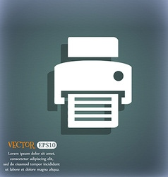 Fax printer icon On the blue-green abstract vector