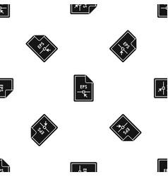 file eps pattern seamless black vector image
