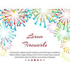 fireworks wedding background vector image