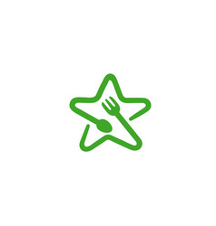 food star logo vector image