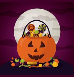 happy halloween celebration day vector image