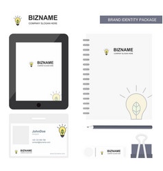Idea business logo tab app diary pvc employee vector