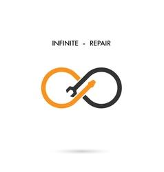 Infinite repair logo elements design vector