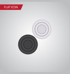 isolated checkers flat icon chequer vector image