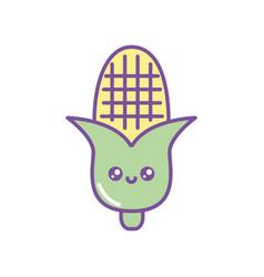 Isolated kawaii corn fill design vector
