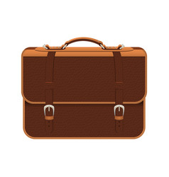 leather briefcase design vector image
